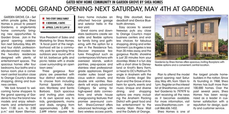 GATED NEW HOME COMMUNITY IN GARDEN GROVE BY SHEA HOMES ...