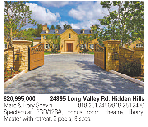 $20,995,000 24895 Long Valley Rd, Hidden Hills - Real Estate - Westside /  Central Los Angeles