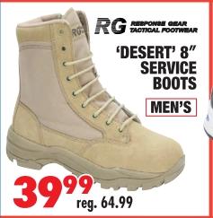 SERVICE BOOTS MEN'S reg. 64.99