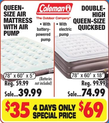 Queen Size Air Mattress With Air Pump Big 5 Sporting Goods