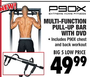 MULTI-FUNCTION PULL-UP BAR WITH DVD •Includes P90X chest and